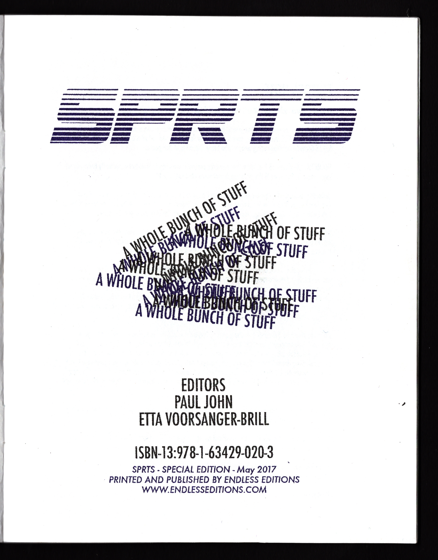 Endless Editions SPRTS SPCL EDN 2