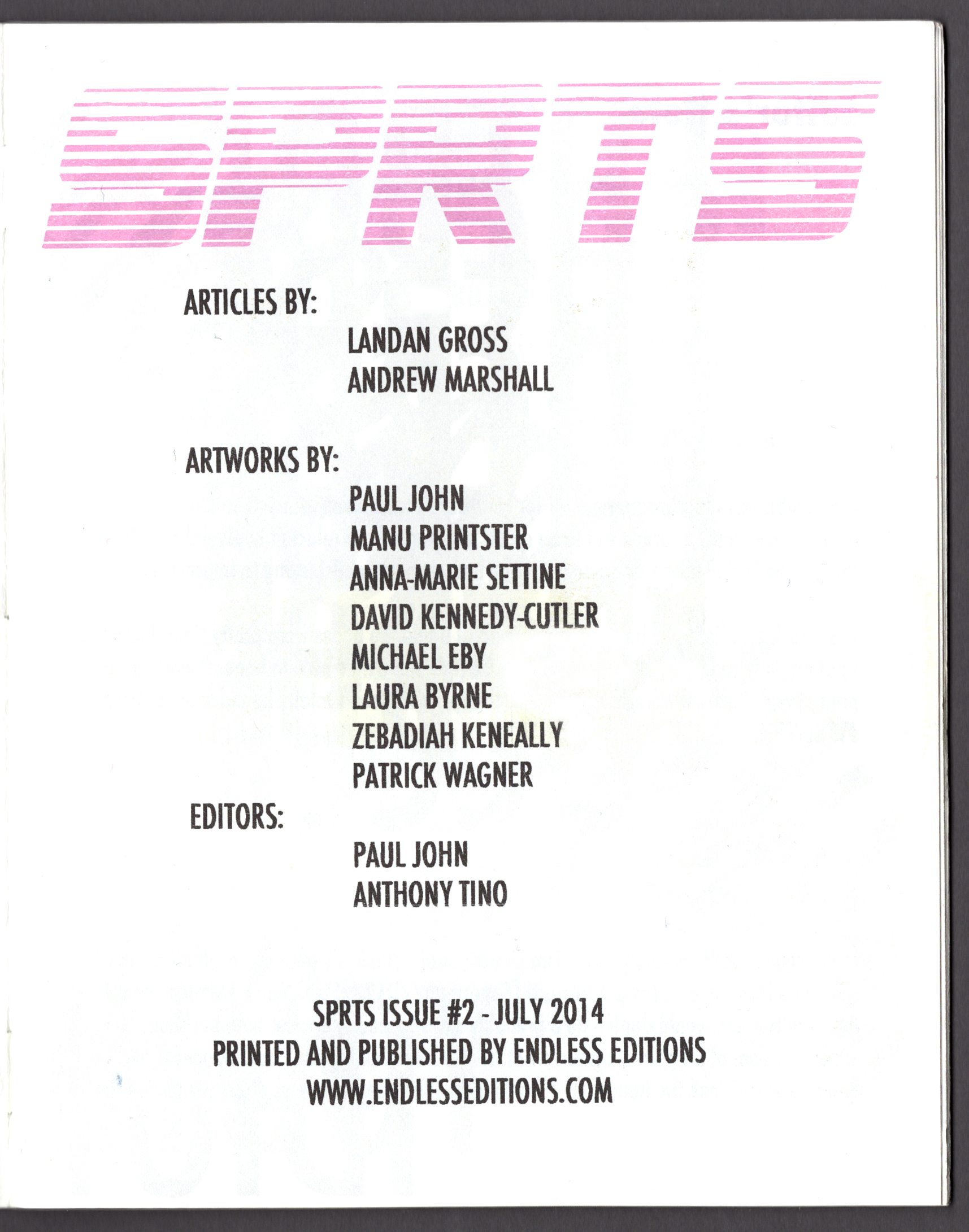 Endless Editions SPRTS2