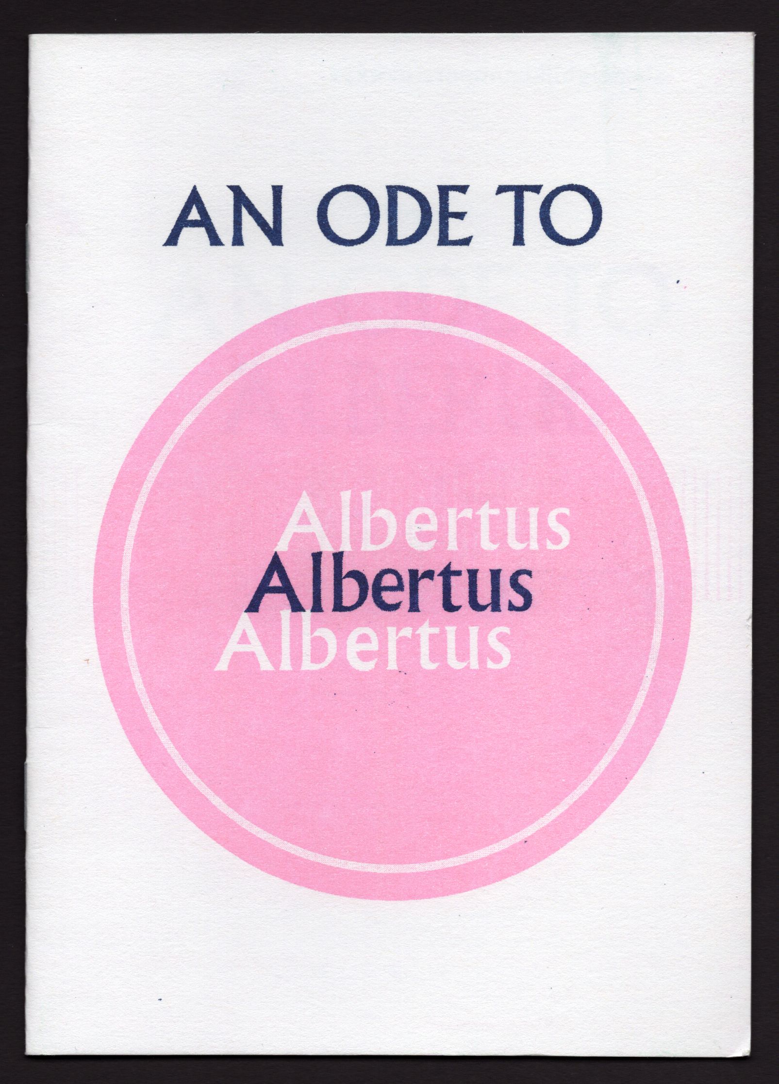 Endless Editions An Ode To Albertus